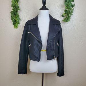 Sugarlips asymmetrical zip up moto jacket